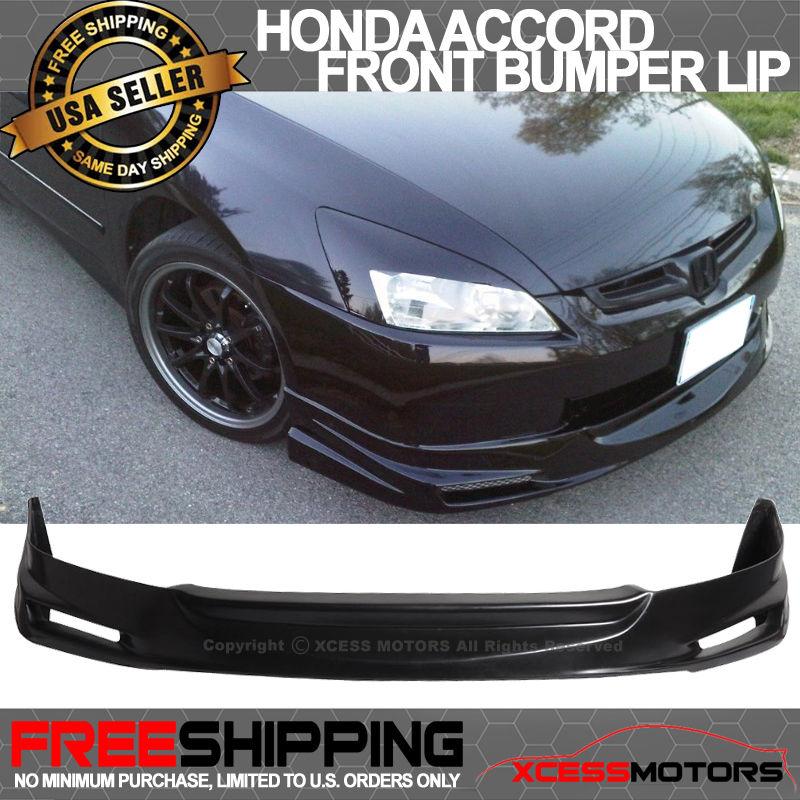 USパーツ 03-05ホンダアコード4Dセダンムゲンタイプウレタンフロントバンパーリップスポイラーボディキット 03-05 Honda Accord 4D Sedan MUGEN Type Urethane Front Bumper Lip Spoiler Bodykit