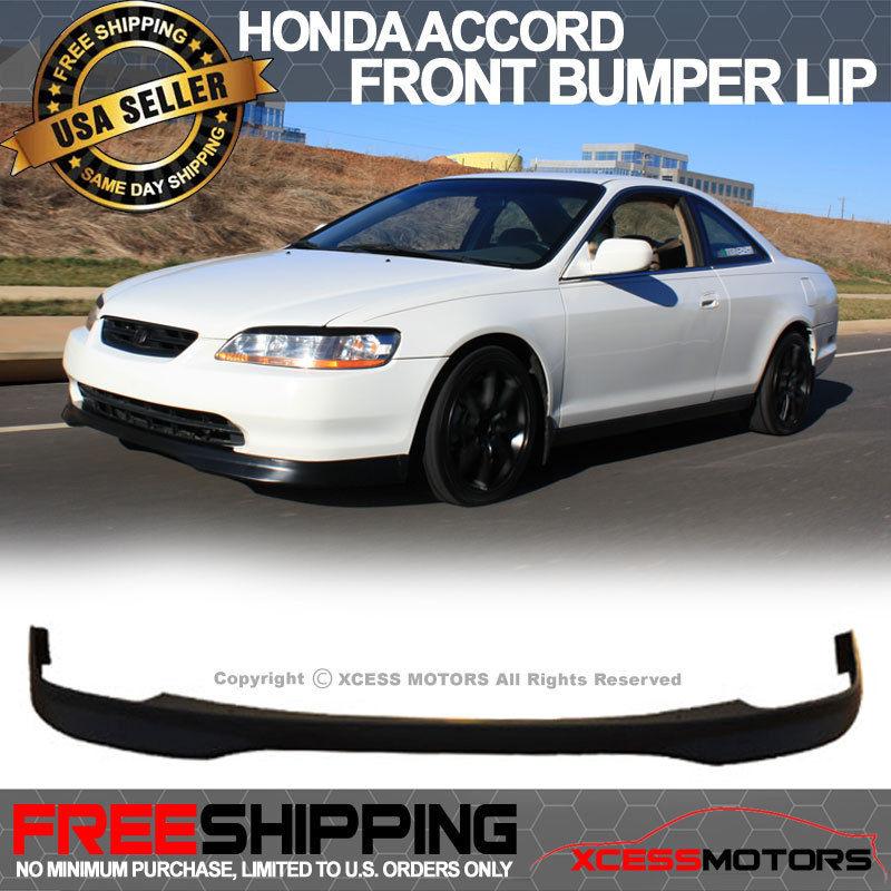 USパーツ 98-00ホンダアコードダブルクーペT-Rスタイルウレタンフロントバンパーリップスポイラーボディキット 98-00 Honda Accord 2Dr Coupe T-R Style Urethane Front Bumper Lip Spoiler Bodykit