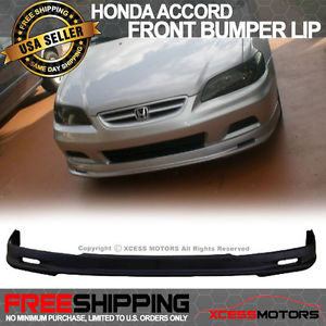 USパーツ 01-02ホンダアコード2Drクーペミュンヘンスタイルフロントバンパーリップスポイラーボディキット 01-02 Honda Accord 2Dr Coupe Mugen Style Front Bumper Lip Spoiler Bodykit