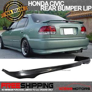 USパーツ 日産セントラ91-94 B13用リアバンパーリップスポイラーブラックウレタンフィット用 For Rear Bumper Lip Spoiler Black Urthane Fit For Nissan Sentra 91-94 B13