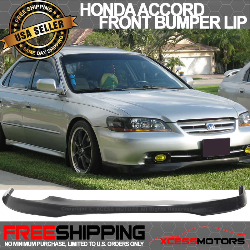 USパーツ 98-02ホンダアコード4Dr PU T-Rフロントバンパーリップスポイラー 98-02 Honda Accord 4Dr PU T-R Front Bumper Lip Spoiler