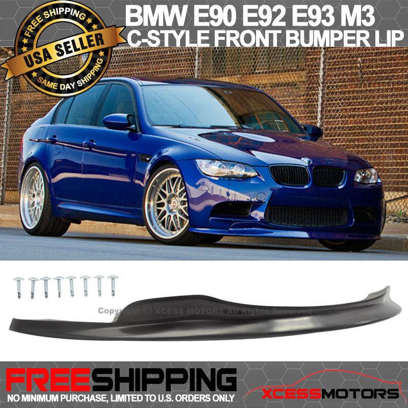 USパーツ 08-13 BMW E90 E92 E93 M3クーペ2Dr 4Dr Cスタイルフロントバンパーリップ未塗装 For 08-13 BMW E90 E92 E93 M3 Coupe 2Dr 4Dr C Style Front Bumper Lip Unpainted