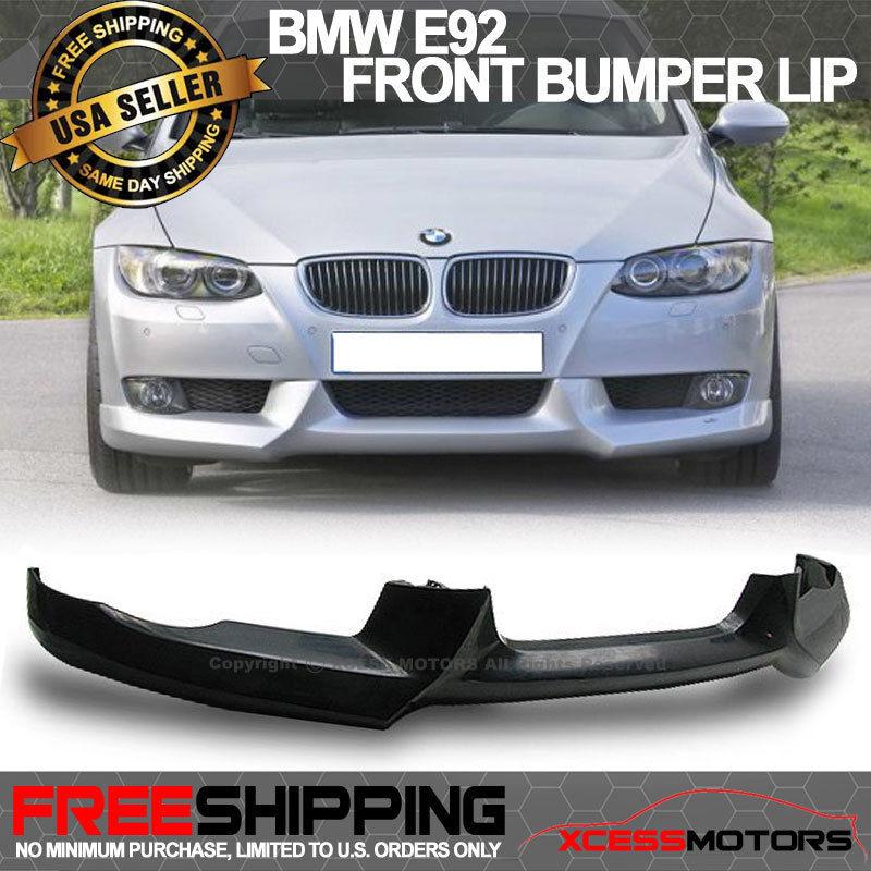 USパーツ 07-10 BMW E92 335 330ウレタンフロントバンパーリップスポイラー 07-10 BMW E92 335 330 Urethane Front Bumper Lip Spoiler