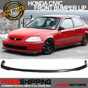 USパーツ 99-00ホンダシビックEK SIR Si RポリウレタンフロントバンパーリップスポイラーPU 99-00 Honda Civic EK SIR Si R Poly Urethane Front Bumper Lip Spoiler PU