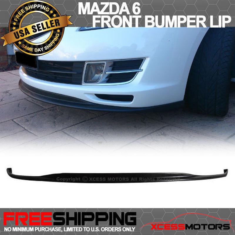 USパーツ 09-11マツダ6マツダポリウレタンフロントバンパーリップスポイラーボディキットブラック 09-11 Mazda 6 Mazda6 Poly Urethane Front Bumper Lip Spoiler Bodykit Black