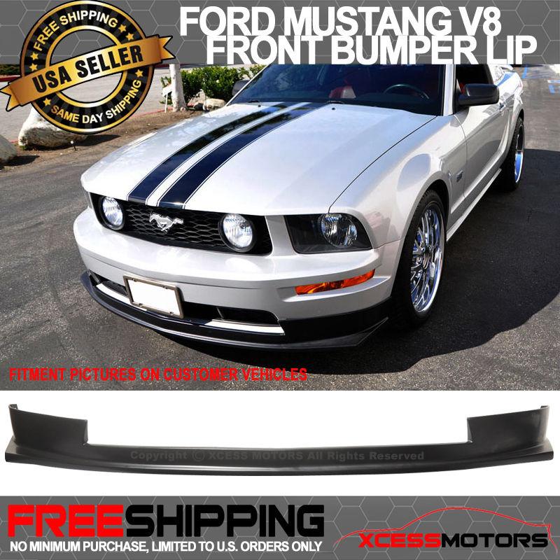 <title>☆送料無料☆USパーツ 海外メーカー輸入品 USパーツ 05-09 Ford Mustang V8ウレタンスポーツブラックフロントバンパーリップスポイラーボディキット 爆売り V8 Urethane Sports Black Front Bumper Lip Spoiler Bodykit</title>