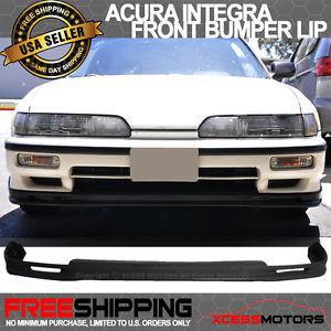 USパーツ 90-91 Acura Integra MugenスタイルPUウレタンフロントバンパーリップスポイラー 90-91 Acura Integra Mugen Style PU Urethane Front Bumper Lip Spoiler