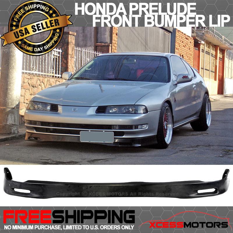 USパーツ 92-96ホンダプレリュードBB1スプーンウレタンフロントバンパーリップスポイラーボディキットブラック 92-96 Honda Prelude BB1 SPOON Urethane Front Bumper Lip Spoiler Bodykit Black