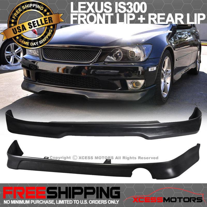 Poly Urethane USパーツ Type Spoiler Bumper + Front Lip Lexus 01-05レクサスIS300タイプGフロントバンパーリップ+リアリップスポイラーポリウレタン Lip Rear 01-05 IS300 G