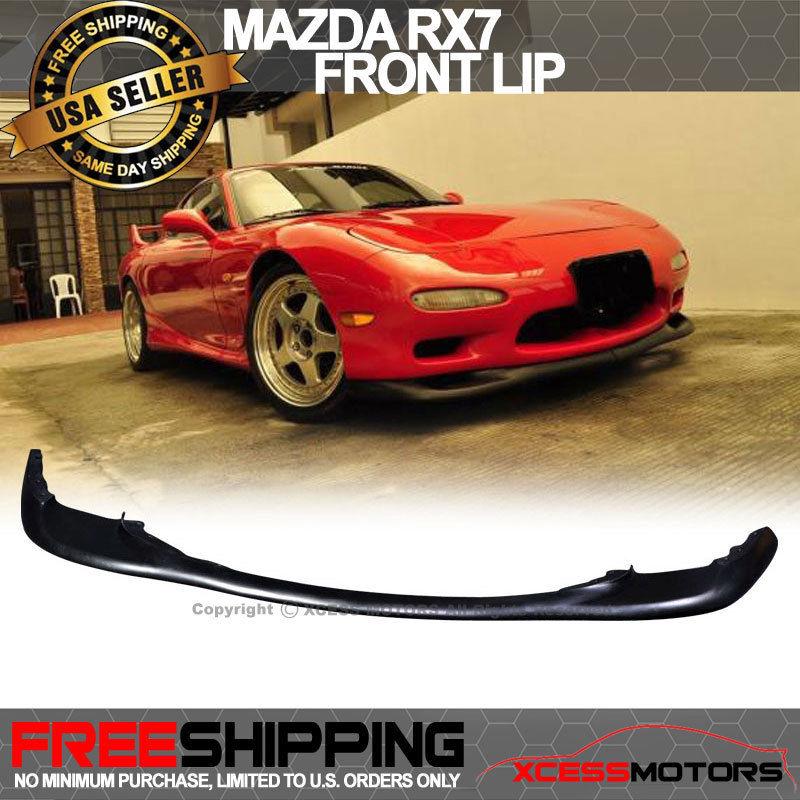 USパーツ 93-97マツダRX7 OE RスタイルフロントリップポリウレタンPU 94 95 96 93-97 Mazda RX7 OE R Style Front Lip Poly Urethane PU 94 95 96