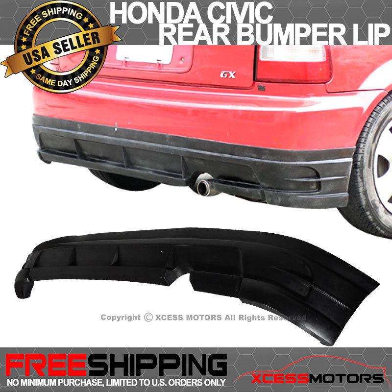 USパーツ 96-00ホンダシビックEK 3DrタイプJポリウレタンリアバンパーリップスポイラーボディキット 96-00 Honda Civic EK 3Dr Type J Poly Urethane Rear Bumper Lip Spoiler Bodykit