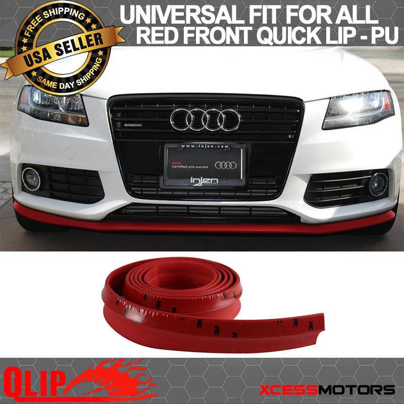 For Type 3 Quick Lip Chevy Universal Front Bumper Lip 2Pc Splitter EZ 24X5 In