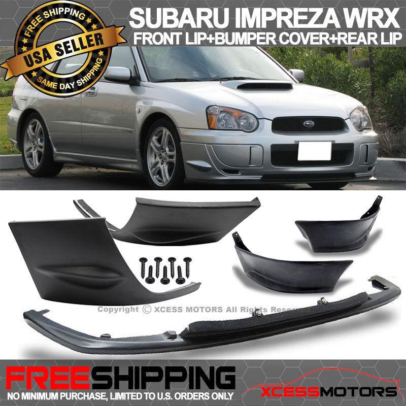 USパーツ 04-05インプレッサWRX V-Limited 2PCSサイドバンパーカバー+フロント& リアリップPU For 04-05 Impreza WRX V-Limited 2PCS Side Bumper Cover + Front & Rear Lip PU