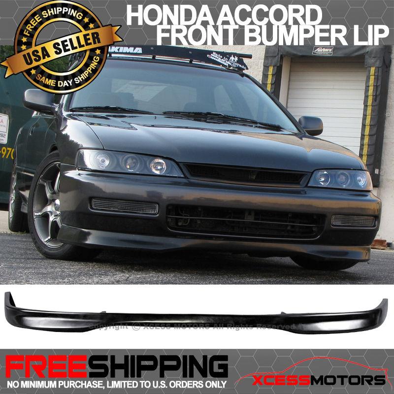 USパーツ 96-97ホンダアコードT-RスタイルウレタンPUフロントバンパーリップスポイラー 96-97 Honda Accord T-R Style Urethane PU Front Bumper Lip Spoiler