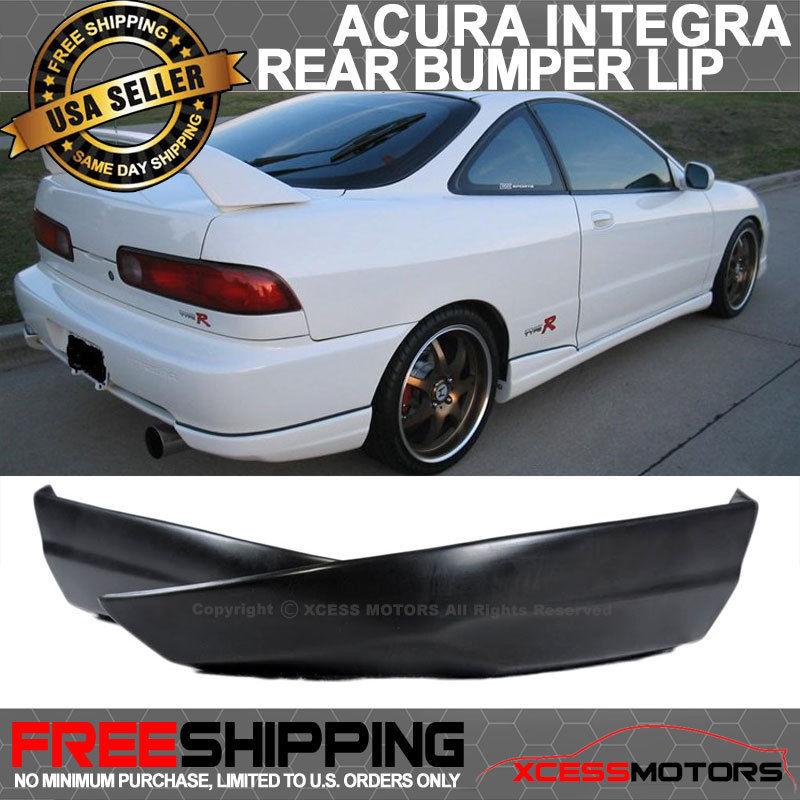 USパーツ 94-97 Acura Integraリアバンパーリップスポイラー2PCS PUポリウレタンT-Rスタイル 94-97 Acura Integra Rear Bumper Lip Spoiler 2PCS PU Poly Urethane T-R Style