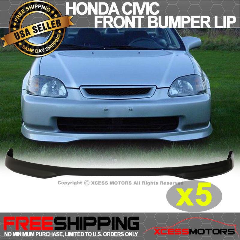 USパーツ 96-98ホンダシビックバンドル5ピースT-R PPフロントバンパーリップスポイラー 96-98 Honda Civic Bundle Of 5 Pieces T-R PP Front Bumper Lip Spoiler