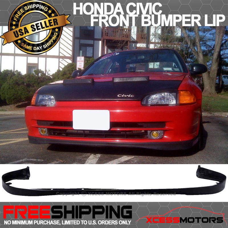 USパーツ 92-95ホンダシビックSIR T-R OE-オプションPUフロントバンパーリップスポイラー 92-95 Honda Civic SIR T-R OE-Optional PU Front Bumper Lip Spoiler