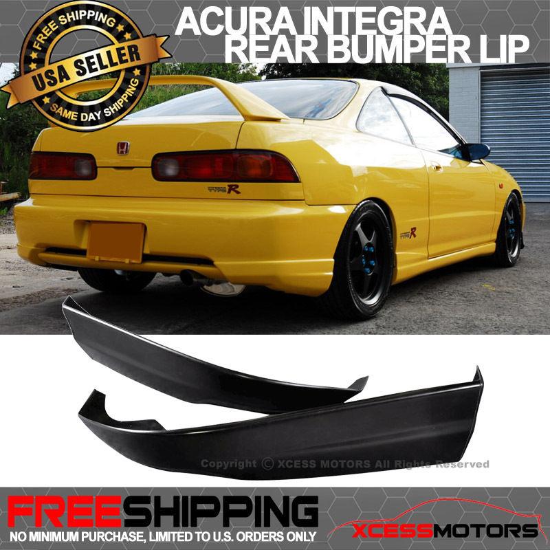 USパーツ 98-01 Acura Integra PUリアバンパーリップスポイラー2PCSポリウレタン 98-01 Acura Integra PU Rear Bumper Lip Spoiler 2PCS Poly Urethane