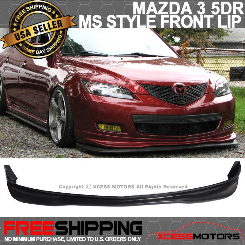 USパーツ 07-09 Mazda 3 Mazda3 MS 5Dr JDMハッチポリウレタンフロントバンパーリップスポイラー 07-09 Mazda 3 Mazda3 MS 5Dr JDM Hatch Poly Urethane Front Bumper Lip Spoiler