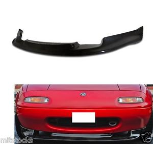 USパーツ 90 91 92 93 94 95 96 97 MIATA GV PU BLACKフロントバンパーリップスポイラーチャン 90 91 92 93 94 95 96 97 MIATA GV PU BLACK ADD-ON FRONT BUMPER LIP SPOILER CHIN
