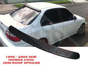 USパーツ 1996 00ホンダシビック4dr JDM HCスタイルリアウィンドウスポイラーブラック未塗装プラスチック 1996 00 Honda Civic 4dr JDM HC Style Rear Window Spoiler Black Unpainted Plastic