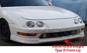 USパーツ 1998 2001 USDM Acura IntegraタイプR JDMスタイルフロントリップ未塗装プラスチック 1998 2001 USDM Acura Integra Type R JDM Style Front Lip Unpainted Plastic
