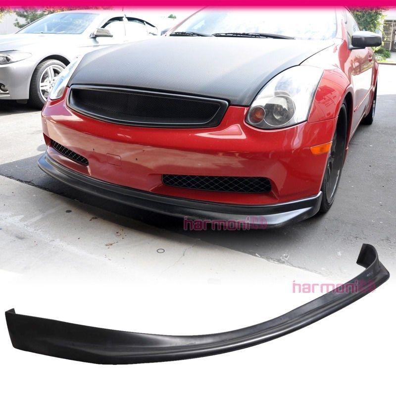 USパーツ フィットフィット03-06インフィニティG35ベースカップル2DRフロントバンパーリップボディキットニススタイル Fit For 03-06 Infiniti G35 Base Couple 2DR Front Bumper Lip Bodykit Nis Style