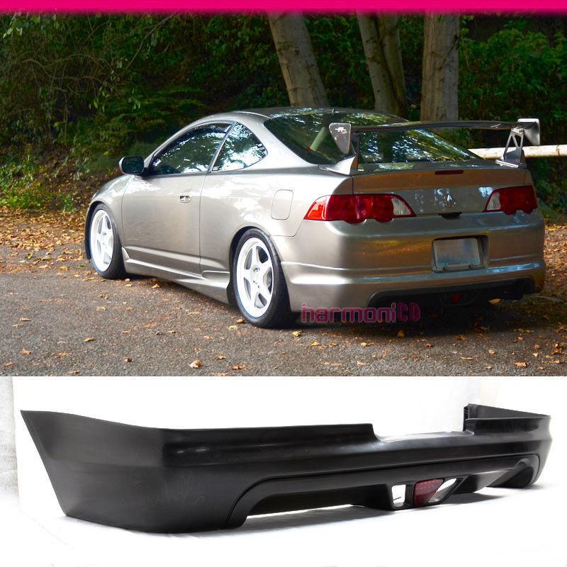 USパーツ フィット02-04アキュラRSXクーペ2DrリアバンパーリップW LedブレーキライトMUGスタイル Fit For 02-04 Acura RSX Coupe 2Dr Rear Bumper Lip W Led Brake Light MUG Style