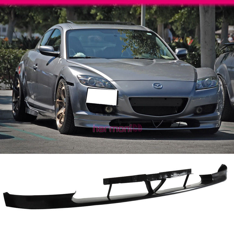 USパーツ FIT FOR 04 05 06 07 MAZDA RX8 OEスタイルフロントバンパーリップスポイラーボディキットJDM PU FIT FOR 04 05 06 07 MAZDA RX8 OE STYLE FRONT BUMPER LIP SPOILER BODY KIT JDM PU