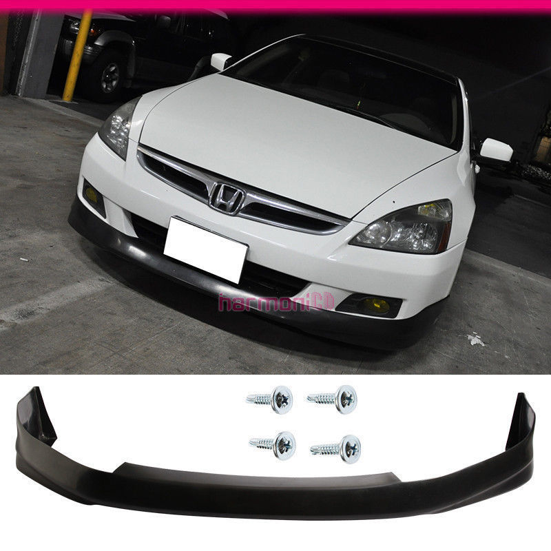 USパーツ Honda Accord 06 07 2DrフロントバンパーリップスポイラーPU HF-Pスタイルブラック Fit For Honda Accord 06 07 2Dr Front Bumper Lip Spoiler PU HF-P Style Black