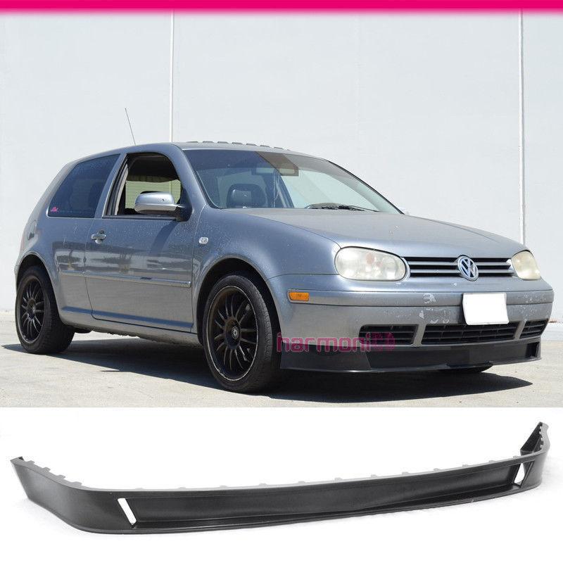 USパーツ フィット99-04フォルクスワーゲンゴルフMK4 P2スタイルフロントバンパーリップスポイラーPUウレタン Fit For 99-04 Volkswagen Golf MK4 P2 Style Front Bumper Lip Spoiler PU Urethane