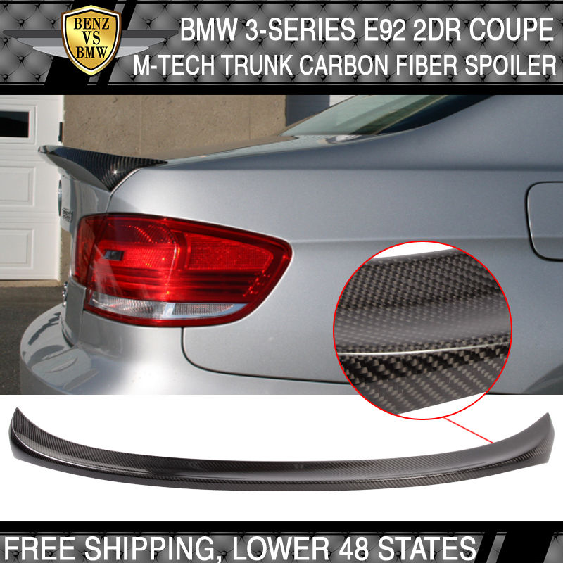USパーツ 07-11 BMW 3シリーズE92 2DrクーペMテックMスポーツトランク・スポイラーM3カーボンファイバーCF 07-11 BMW 3-Series E92 2Dr Coupe M-Tech Msport Trunk Spoiler M3 Carbon Fiber CF
