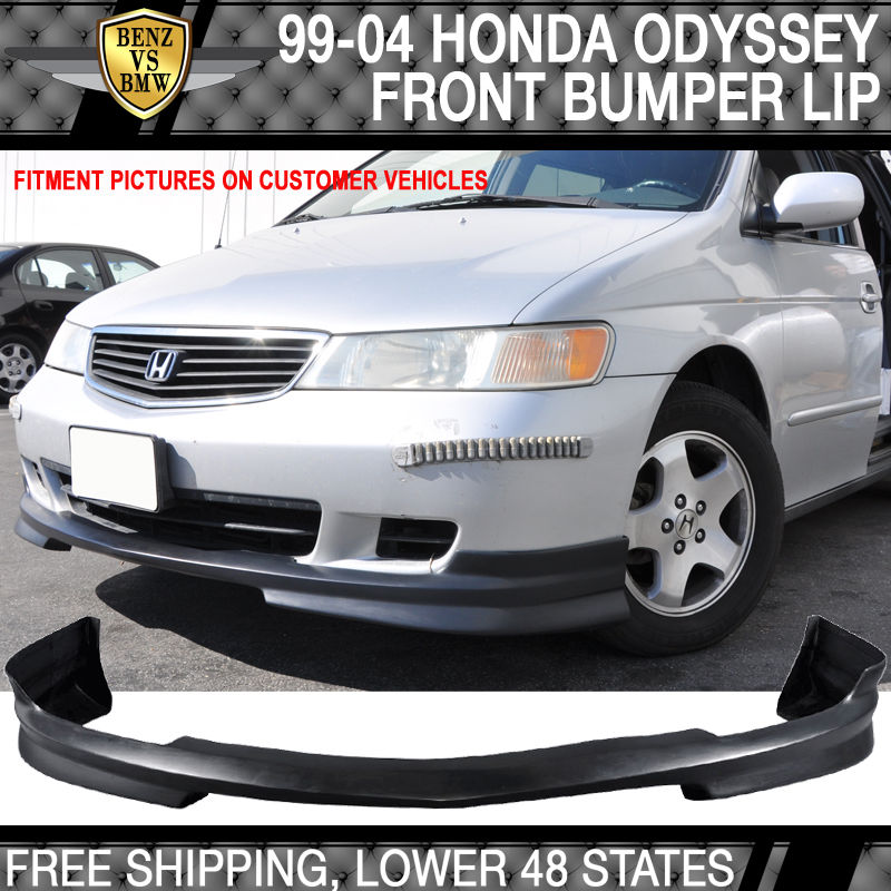 USパーツ 99-04ホンダオデッセイJDMスタイルフロントバンパーリップスポイラーポリウレタン 99-04 Honda Odyssey JDM Style Front Bumper Lip Spoiler Poly Urethane