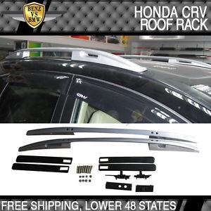 USパーツ 07-11ホンダCRV CR-V OE工場スタイルサイドレールバールーフラックシルバー For 07-11 Honda CRV CR-V OE Factory Style Side Rail Bar Roof Rack Silver
