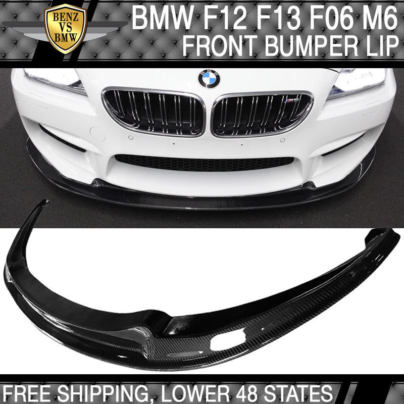 USパーツ 12-16 BMW F12 F13 F06 6シリーズM6 JPMフロントバンパーリップ - カーボンファイバー 12-16 BMW F12 F13 F06 6-Series M6 JPM Front Bumper Lip - Carbon Fiber