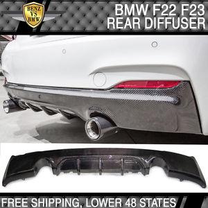USパーツ 14-17 BMW F22 F23 M-Tech M-スポーツPスタイルリアバンパーディフューザ - カーボンファイバーCF 14-17 BMW F22 F23 M-Tech M-Sport P Style Rear Bumper Diffuser - Carbon Fiber CF