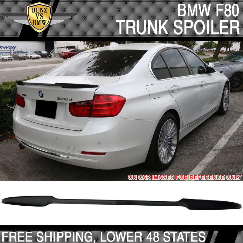 USパーツ 14-17 BMW F80 M3 F30 Vスタイルのトランク・スポイラー・ペイント・ブラック・サファイア・メタリック 14-17 BMW F80 M3 F30 V Style Trunk Spoiler Painted Black Sapphire Metallic