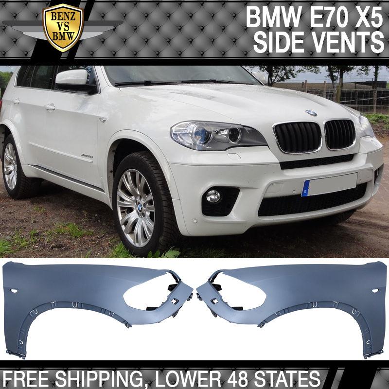 USパーツ 07-10 BMW E70 X5 SUVプレLCIサイドフェンダ(ワッシャ穴付き) - ポリプロピレン(PP) 07-10 BMW E70 X5 SUV Pre-LCI Side Fenders With Washer Hole - Polypropylene (PP)