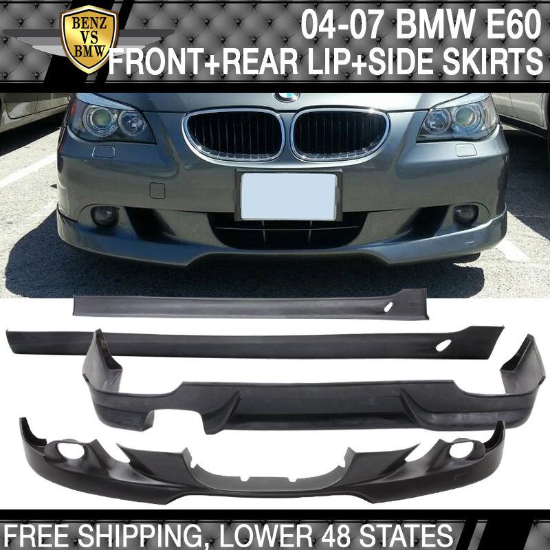 USパーツ 04-07 BMW E60 ACウレタンバンパーリップスポイラーボディキット 04-07 BMW E60 AC Urethane Bumper Lip Spoiler Body Kit