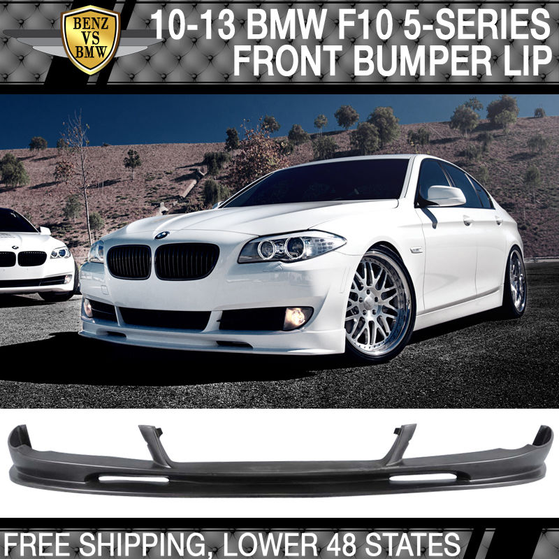 USパーツ 10-13 BMW F10 5シリーズ3Dスタイルフロントバンパーリップ未塗装 - PUウレタン 10-13 BMW F10 5 Series 3D Style Front Bumper Lip Unpainted - PU Urethane