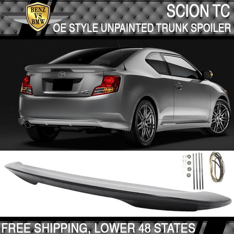 USパーツ 11-16シオンtC OE工場スタイルのトランク・スポイラーABS無塗装マット 11-16 Scion tC OE Factory Style Trunk Spoiler ABS Unpainted Matte