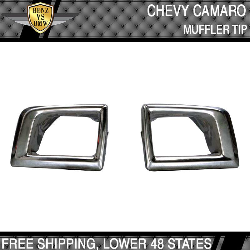 USパーツ 10-13シボレーカマロクロムステンレススチール排気マフラーチップ 10-13 Chevrolet Camaro Chrome Stainless Steel Exhaust Muffler Tip