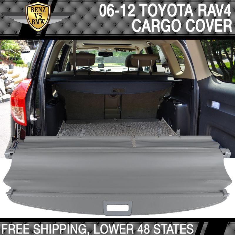 USパーツ 06-12 Toyota RAV4 OE FACTORYリトラクタブルリアカーゴセキュリティトランクカバーグレー 06-12 Toyota RAV4 OE FACTORY Retractable Rear Cargo Security Trunk Cover Gray