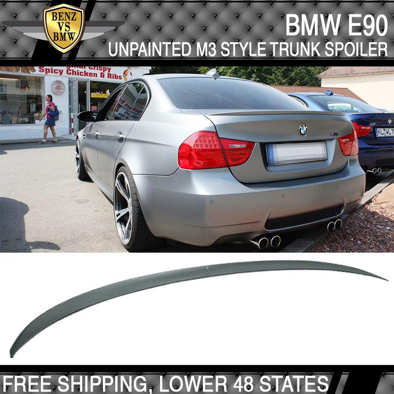 USパーツ 06-11 BMW E90 3シリーズ4Dr 330 335 328 M3型トランク・スポイラー無塗装ABS 06-11 BMW E90 3-Series 4Dr 330 335 328 M3-Type Trunk Spoiler Unpainted ABS