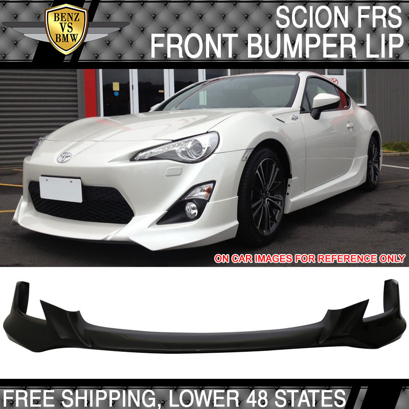 USパーツ 13-16サイオンFRS GT86 5つのデザインスタイルフロントバンパーリップペインティングレイヴンパール - PU 13-16 Scion FRS GT86 Five Design Style Front Bumper Lip Painted Raven Pearl - PU