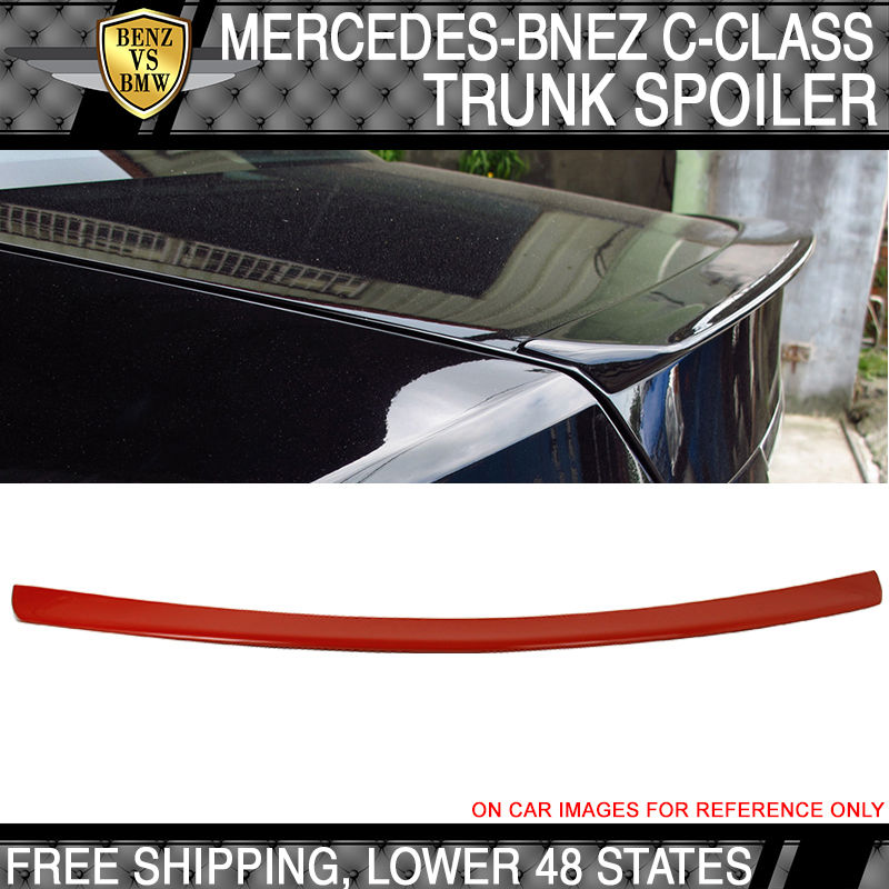 USパーツ 08-14ベンツCクラスW204 4Dr AMGスタイル#590火星赤塗装ABSトランク・スポイラー 08-14 Benz C Class W204 4Dr AMG Style # 590 Mars Red Painted ABS Trunk Spoiler