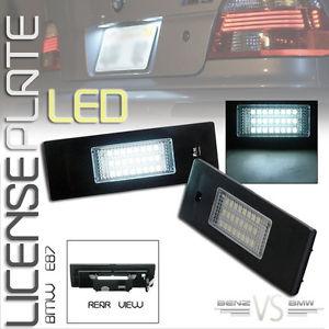 USパーツ BMW E85 E86 E81 E63 E87 24 SMD LEDライセンスプレートランプ BMW E85 E86 E81 E63 E87 24 SMD LED License Plate Lamp