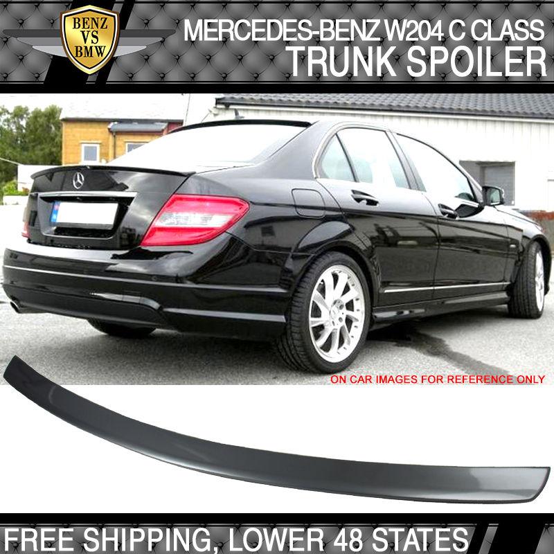 USパーツ 08-14ベンツCクラスW204 4DR AMGスタイルペイント#792パラジウムシルバートランクスポイラー 08-14 Benz C Class W204 4DR AMG Style Painted#792 Palladium Silver Trunk Spoiler