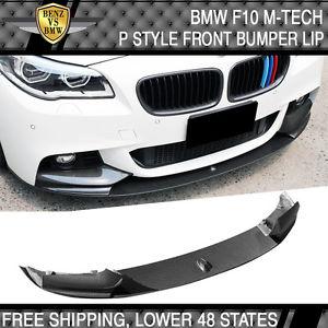 USパーツ 11-16 BMW F10 5シリーズM-Tech MスポーツPスタイルフロントバンパーリップカーボンファイバーCF 11-16 BMW F10 5-Series M-Tech M Sport P Style Front Bumper Lip Carbon Fiber CF