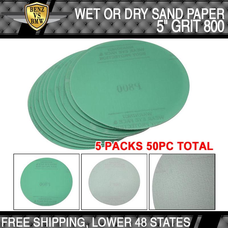 USパーツ x50 PCウェットドライグリーンサンディングペーパー衝突修復サンドディスク800グリット5インチPSA x50 PC Wet Dry Green Sanding Paper Collision Repair Sand Disc 800 Grit 5Inch PSA